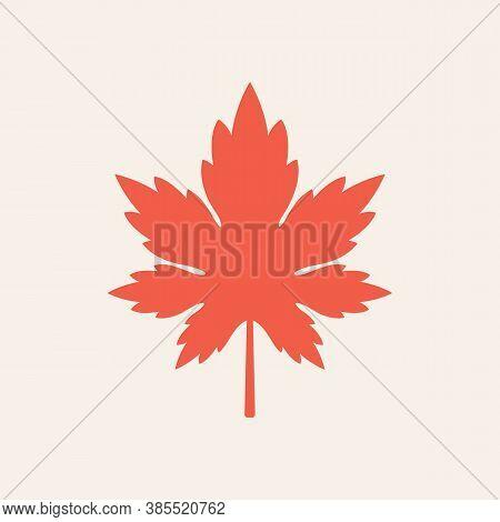 Maple Leaf Vector Icon. Autumn Leaf Leaves. Fall Leaves Maple