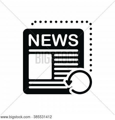 Black Solid Icon For Recent Fresh Neoteric Nowaday Paper Tidings Reports  Datum Newspaper Magazine