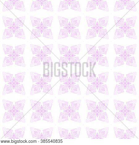 Watercolor Ikat Repeating Tile Border. Purple Remarkable Boho Chic Summer Design. Ikat Repeating  Sw