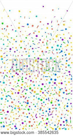 Festive Trending Confetti. Celebration Stars. Festive Confetti On White Background. Graceful Festive