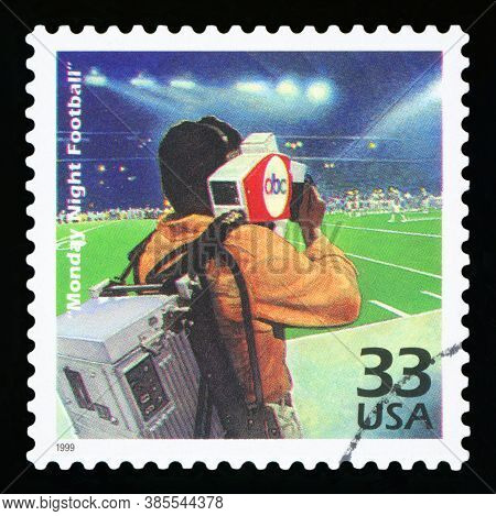 United States Of America, Circa 1999: A Postage Stamp Printed In Usa Showing An Image Of The Tv Prog