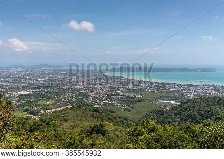 View Of Thai Islands And Sea From Big Buddha Phuket Viewpoint, Thailand