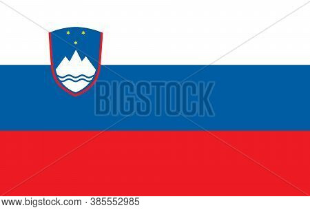Flag Of Slovenia. Page Symbol For Your Web Site Design Slovenia Flag Logo, App, Ui. Slovenia Flag Ve