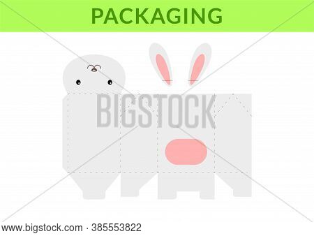 Adorable Diy Party Favor Box For Birthdays, Baby Showers With Cute Hare For Sweets, Candies, Small P