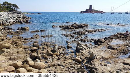 Golden Island (ile D'or Island) In The Cap Dramont, St.raphael, France
