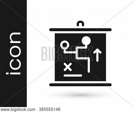 Black Planning Strategy Concept Icon Isolated On White Background. Cup Formation And Tactic. Vector