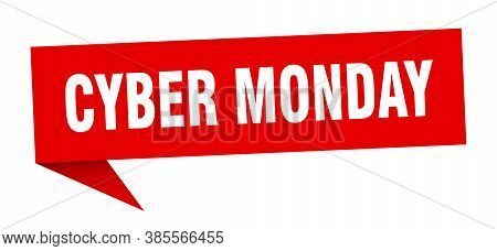 Cyber Monday Banner. Cyber Monday Speech Bubble. Sign