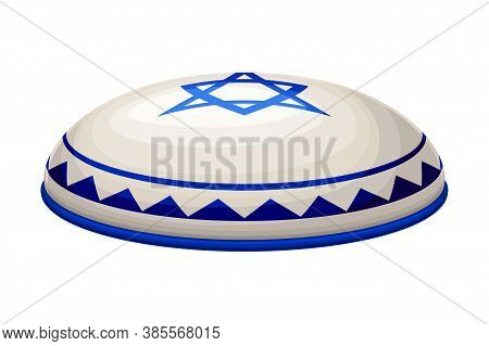 Jewish Kippah As Religious Headdress Of Hebrew Vector Illustration