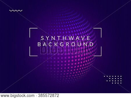 Music Poster. Dynamic Fluid Shape And Line. Energy Discotheque Magazine Layout. Neon Music Poster. E
