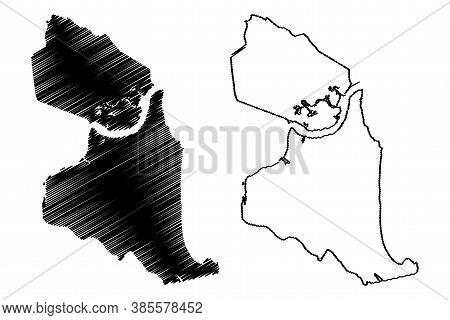 Natal City (federative Republic Of Brazil, Rio Grande Do Norte State) Map Vector Illustration, Scrib
