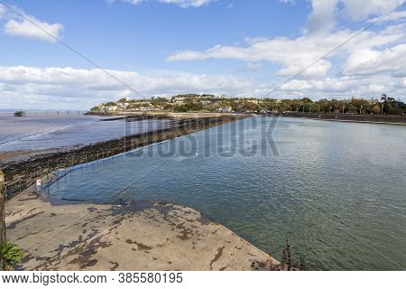 Marine Lake, Clevedon, It Is A Tidal Pool Filled With Seawater On Tides Over 12.6m, You Can Swim, Pa