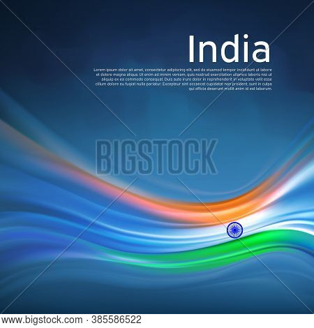 India Abstract Flag Background. Blurred Lines Pattern Of The Light Colors Of The Indian Flag In The