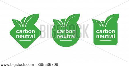 Carbon Neutral Stamp - Co2 Emissions Free (no Air Atmosphere Pollution) Industrial Production Eco-fr