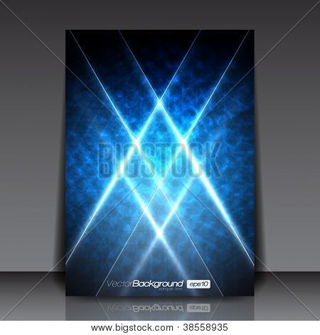 Abstract Modern Blue Vector Flyer for You | EPS10 Design