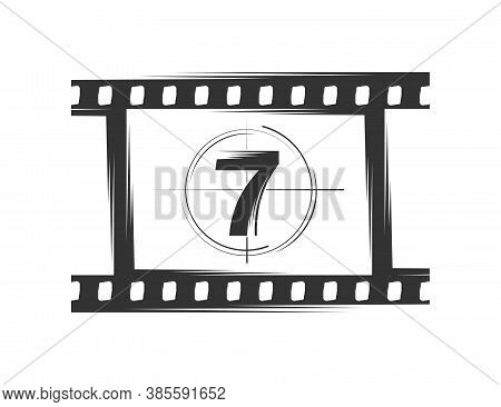 Film Silhouette Isolated On White Background. Design Elements. Vector Illustration