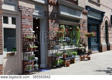 A Florist In Dorchester, Dorset In The Uk Taken On The 20th July 2020.