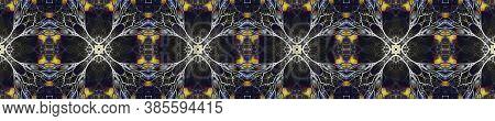Aztec Rugs. Abstract Kaleidoscope Motif. Repeat Tie Dye Ornament. Ikat Mexican Motif. Luminous Neon
