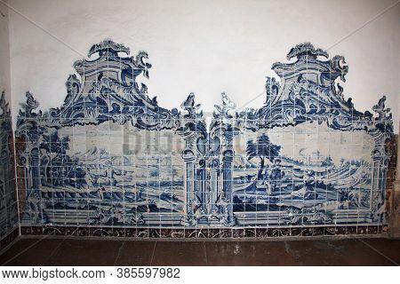Coimbra / Portugal - 14 May 2015: The Azulejo In Coimbra City, Portugal