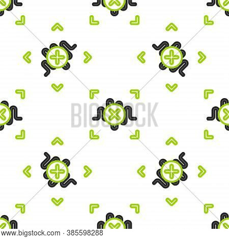 Line Rejection Voice Recognition Icon Isolated Seamless Pattern On White Background. Voice Biometric