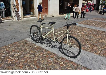 Coimbra / Portugal - 14 May 2015: The Bike In Coimbra City, Portugal