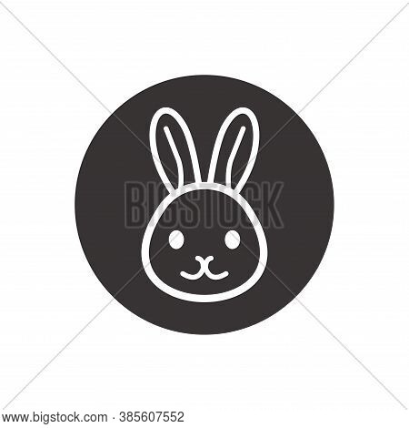 Vector Of Rabbit Head. Rabbit Icon Vector. Rabbit Icon Isolated On White Background. Rabbit Icon Sim