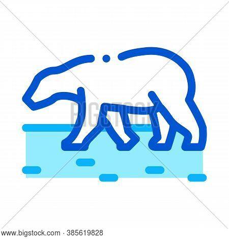 Polar Bear Icon Vector. Polar Bear Sign. Isolated Contour Symbol Illustration
