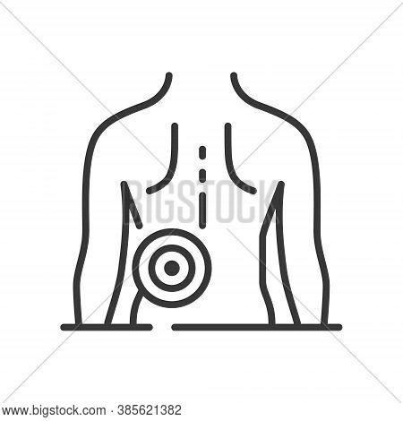 Backache - Vector Line Design Single Isolated Icon