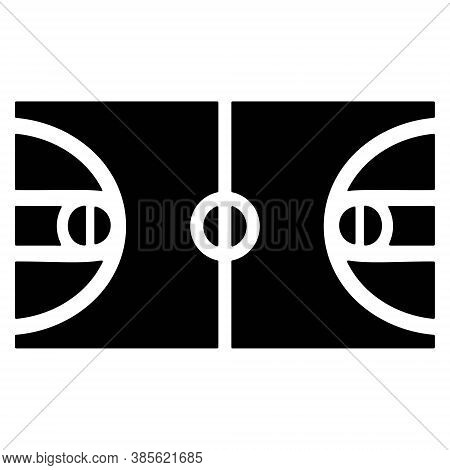 Basketball Court Icon. Game Concept. Basketball Arena, Field Symbols. Sports Court Icon. Playground,