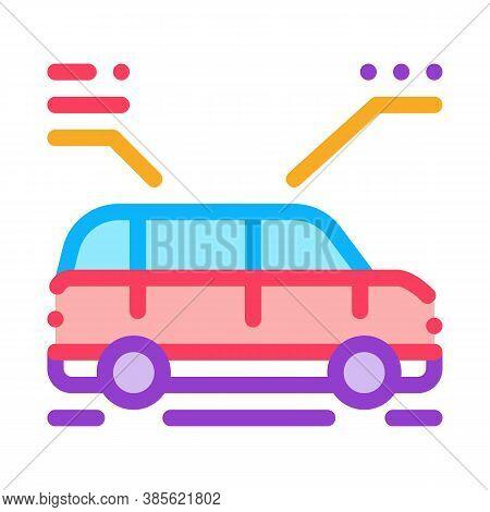 Car Characteristics Icon Vector. Car Characteristics Sign. Isolated Contour Symbol Illustration