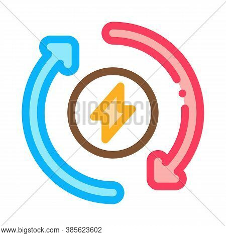 Heating Circulation Icon Vector. Heating Circulation Sign. Isolated Contour Symbol Illustration