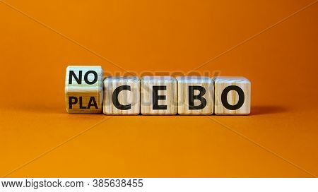 Nocebo Or Placebo. Turned A Cube And Changed The Word 'placebo' To 'nocebo', Or Vice Versa. Beautifu