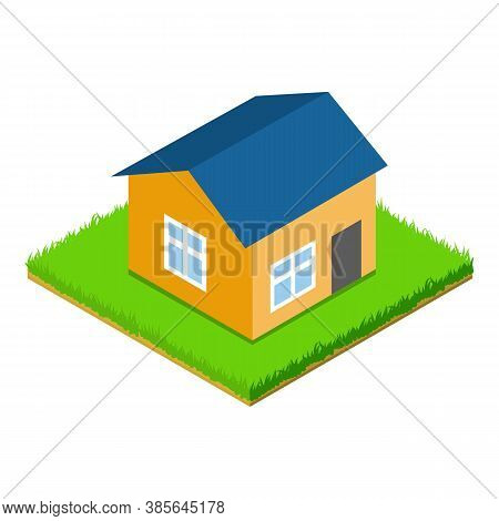 Dwelling House Icon. Isometric Illustration Of Dwelling House Vector Icon For Web