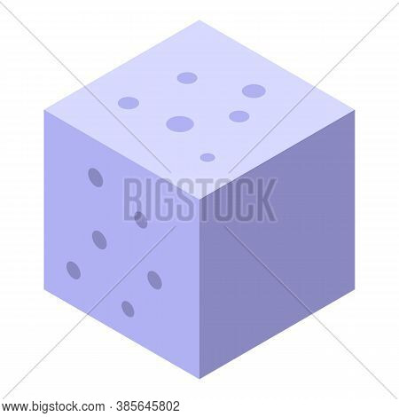 Ant Sugar Cube Icon. Isometric Of Ant Sugar Cube Vector Icon For Web Design Isolated On White Backgr