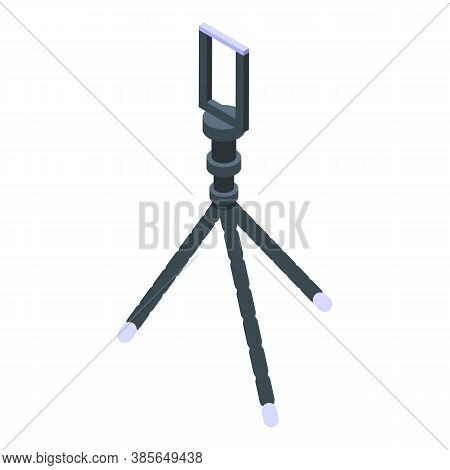 Soft Flexible Tripod Icon. Isometric Of Soft Flexible Tripod Vector Icon For Web Design Isolated On