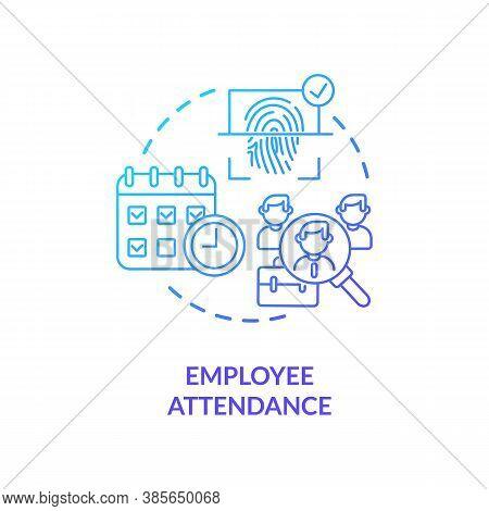 Employee Attendance Concept Icon. Simple Biometrics Usage In Everyday Life. Smart Futuristic Scannin