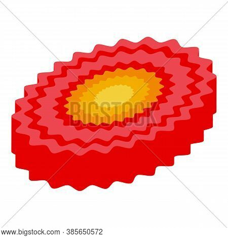 Washcloth Red Color Icon. Isometric Of Washcloth Red Color Vector Icon For Web Design Isolated On Wh