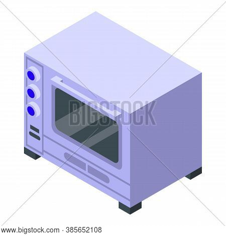 Convection Oven Electric Icon. Isometric Of Convection Oven Electric Vector Icon For Web Design Isol