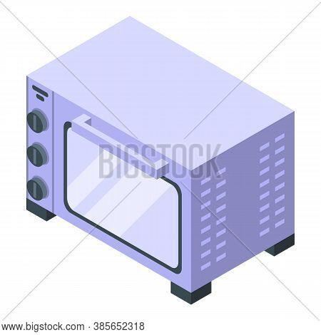 Cafe Convection Oven Icon. Isometric Of Cafe Convection Oven Vector Icon For Web Design Isolated On