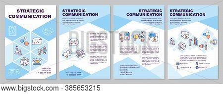 Strategic Communication Brochure Template. Improving Soft Skills. Flyer, Booklet, Leaflet Print, Cov