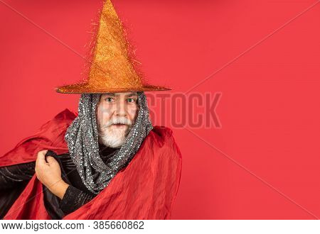 What A Night. Halloween Wide Banner. Halloween Decoration And Scary Concept. 31 October. Gothic Man