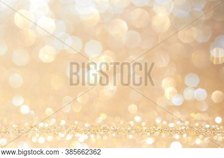 Gold, Yellow Abstract Light Background, Pink Gold  Bokeh Shining Lights, Sparkling Glittering Christ
