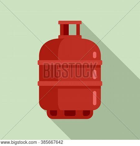 Gas Cylinder Butane Icon. Flat Illustration Of Gas Cylinder Butane Vector Icon For Web Design