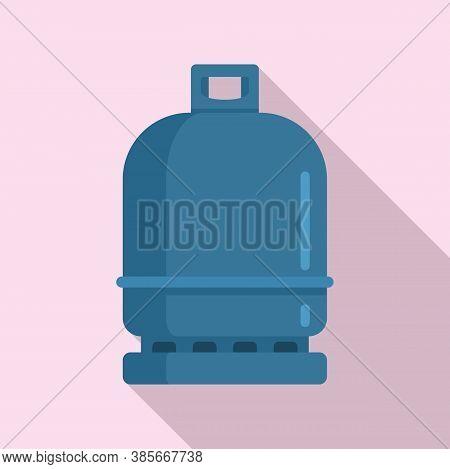 Gas Cylinder Compressed Icon. Flat Illustration Of Gas Cylinder Compressed Vector Icon For Web Desig