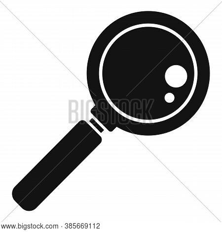 Glass Magnifier Icon. Simple Illustration Of Glass Magnifier Vector Icon For Web Design Isolated On