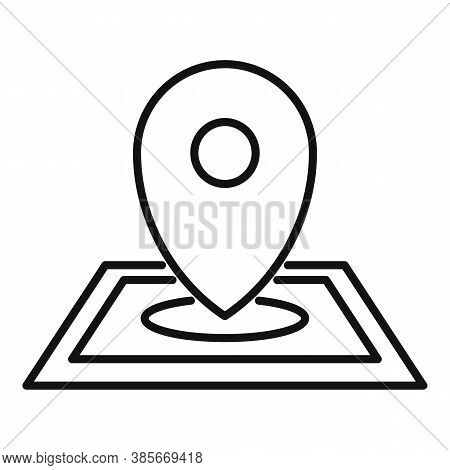 Discovery Gps Pin Map Icon. Outline Discovery Gps Pin Map Vector Icon For Web Design Isolated On Whi