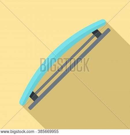 Hairstyle Barrette Icon. Flat Illustration Of Hairstyle Barrette Vector Icon For Web Design