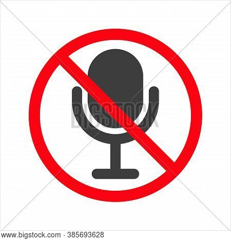 No Mic Allowed. Isolated Vector Illustration Eps10