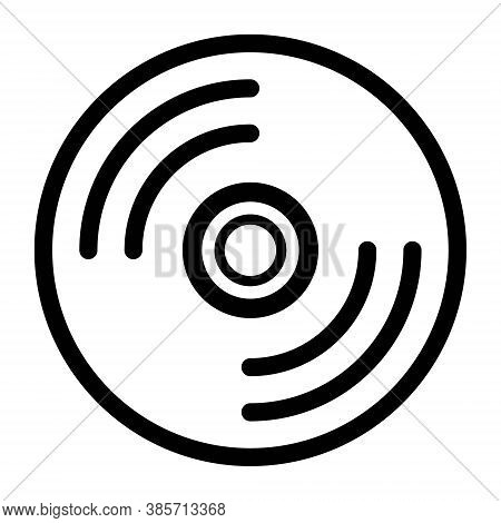 Cd, Dvd And Blu-ray Disk Sign Icon Illustration. Compact Disc Icon. Entertainment Sign. Music, Film,