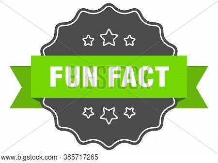Fun Fact Label. Fun Fact Isolated Seal. Sticker. Sign