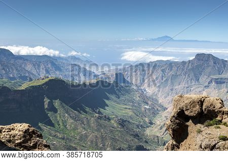 Views Of The Mount Teide, In Tenerife Island, Form The Nublo Rural Park, In The Interior Of The Gran